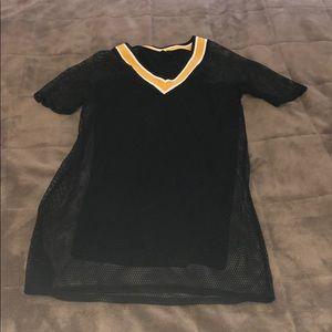 Mesh jersey dress